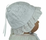 NEW Eyelet Heart Embroidered Sunhat with Scalloped Ruffle