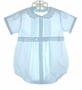 "<img src=""http://site.grammies-attic.com/images/blue-sold-1.gif""> Feltman Brothers Pale Blue Romper with Scalloped Collar"