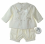 NEW Sarah Louise Ivory Silk Romper with Jacket and Matching Sailor Hat