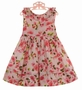 NEW Sarah Louise Rose Flowered Dress with Ruffled Neckline