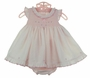 "<img src=""http://site.grammies-attic.com/images/blue-sold-1.gif""> NEW Sarah Louise Pink Ruffled Dress with Tiny Flowers and Matching Ruffled Diaper Cover"