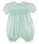 NEW Petit Ami Pale Green Smocked Bubble with Fagoting and Embroidery