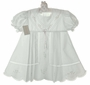 """<img src=""""http://site.grammies-attic.com/images/blue-sold-1.gif""""> NEW Garden Of Angels White Pleated Dress with Pastel Embroidery and Lace Insertion"""