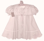 NEW Garden Of Angels Pink Pleated Dress with Pastel Embroidery and Lace Insertion