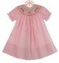 NEW Rosalina Pink Checked Bishop Smocked Dress with Birthday Cake Embroidery
