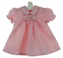 "<img src=""http://site.grammies-attic.com/images/blue-sold-1.gif""> NEW Rosalina Pink Smocked Dress with Embroidered Bunnies"
