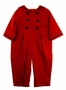 NEW Gordon & Company Red Corduroy Button On Sailor Suit with Navy Trim