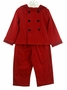 NEW Gordon and Company Red Corduroy Sailor Suit with Navy Trim