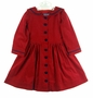 NEW Gordon & Company Red Corduroy Sailor Dress with Navy Trim
