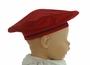 NEW Gordon & Company Red Corduroy Beret with Navy Trim