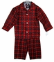 "<img src=""http://site.grammies-attic.com/images/blue-sold-1.gif""> NEW Red Plaid Pajamas for Toddler and Little Boys"