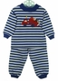 NEW Bailey Boys Blue Striped Pajamas with Truck Applique