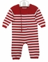 "<img src=""http://site.grammies-attic.com/images/blue-sold-1.gif""> NEW Angel Dear Red and White Striped Soft Cotton Knit Romper for Baby Boys or Baby Girls"
