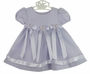 NEW Lilac Baby Dress with Organdy Overlay and Rhinestone Butterfly Trim