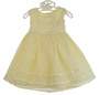 NEW Yellow Baby Dress with Tulle Overlay and Floral Embroidered Trim