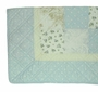 """<img src=""""http://site.grammies-attic.com/images/blue-sold-1.gif""""> NEW Heirloom Style Blue Patchwork Print Quilt"""