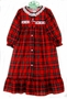 NEW Red Plaid Robe with White Eyelet Trim for Toddlers, Little Girls, and Big Girls