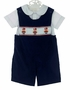 NEW Rosalina Navy Corduroy Shortall Set with Nutcracker Embroidery