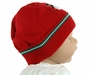 NEW Will'Beth Red Knit Hat with Snowman Applique