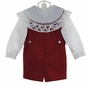 NEW Victorian Heirlooms Red Wool Shortall with Battenburg Lace Trimmmed Collar