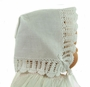 NEW White Keepsake Hanky Bonnet with White Crocheted Lace
