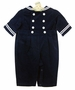 NEW Gordon & Company Navy Corduroy Button On Sailor Suit with White Trim