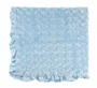 NEW Max Daniel Blue Softest Baby Blanket with Satin Trim