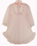 NEW Pale Pink Nylon Nightgown with Long Sleeves for Babies, Toddlers, and Little Girls