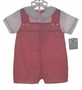 "<img src=""http://site.grammies-attic.com/images/blue-sold-1.gif""> NEW Petit Ami Red Checked Baby Romper with Embroidered Collar"