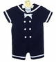 NEW Rare Editions Navy Sailor Shortall with Matching Sailor Hat