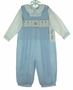 """<img src=""""http://site.grammies-attic.com/images/blue-sold-1.gif""""> NEW Royal Child Blue Checked Smocked Birthday Longall Set"""