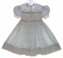 """<img src=""""http://site.grammies-attic.com/images/blue-sold-1.gif""""> Polly Flinders Smocked Dress with Violet and Yellow Flowers"""