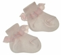 NEW Carlino Pink Cotton Socks with Lace Trim