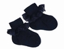 NEW Carlino Navy Cotton Socks with Lace Trim