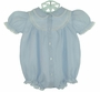 NEW Feltman Brothers Blue Bubble with Embroidery and Lace Insertion