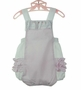NEW Will'Beth Vintage Style Pink Seersucker Sunsuit with Ruffled Bottom