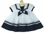 NEW Sarah Louise White and Navy Sailor Dress