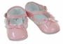"<img src=""http://site.grammies-attic.com/images/blue-sold-1.gif""> NEW Pink Patent Mary Jane Shoes with Lace and Ribbon Trim"