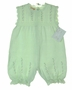 "<img src=""http://site.grammies-attic.com/images/blue-sold-1.gif""> NEW Petit Ami Pale Green Delicate Cotton Knit Sleeveless Bubble with Embroidered Pink Rosebuds"