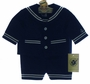 NEW Good Lad Navy Sailor Sunsuit with Jacket and Matching Sailor Hat