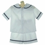 "<img src=""http://site.grammies-attic.com/images/blue-sold-1.gif""> NEW Rosalina White Sailor Shorts Set with Navy Trim"