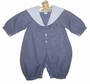 NEW Sophie Dess Navy Checked Sailor Suit with White Collar