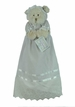 """<img src=""""http://site.grammies-attic.com/images/blue-sold-1.gif""""> NEW Christening Bear in Christening Gown and Bonnet"""