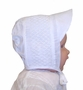 "<img src=""http://site.grammies-attic.com/images/blue-sold-1.gif""> NEW Rosalina White Smocked Hat for Baby Boys"