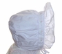 """<img src=""""http://site.grammies-attic.com/images/blue-sold-1.gif""""> NEW White Smocked Batiste Bonnet with Tiny Pink Embroidered Flowers"""