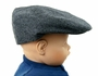 "<img src=""http://site.grammies-attic.com/images/blue-sold-1.gif""> NEW Black and White Herringbone Vintage Style Newsboy Hat"