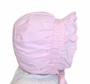 NEW Pink Bonnet with Smocking and Pink Flowers