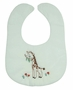 NEW White Bib with Vintage Style Giraffe Embroidery