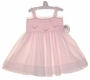 NEW Sarah Louise Pink Voile Smocked Sundress with Pink Embroidery