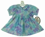 "<img src=""http://site.grammies-attic.com/images/blue-sold-1.gif""> NEW Polly Flinders Blue and Purple Flowered Dress"